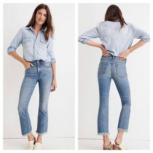 🆕 Madewell Cali Demi Boot Jeans Destructed Hem